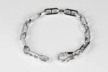 bracciale in argento 925 lucido stile marino