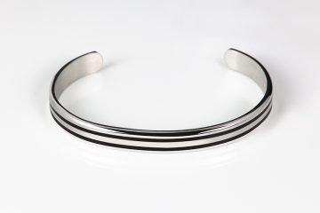 bracciale rigido in argento 925 con decorazione laccata