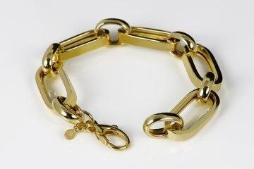 bracciale donna in argento placcato oro