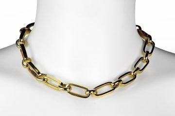 collana in argento 925 placcato in oro lucido