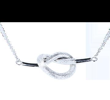 gioielli in argento a forma di nodo