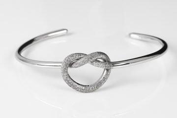 bracciale da donna in argento 925 rigido